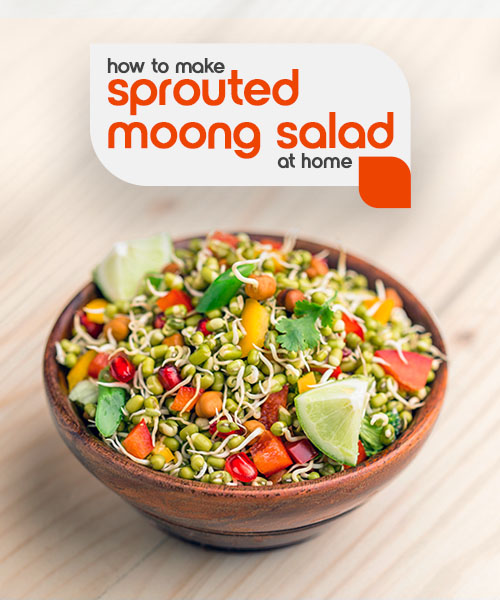fortune sprouted moong salad