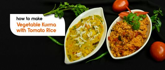 vegetable kurma with tomato rice